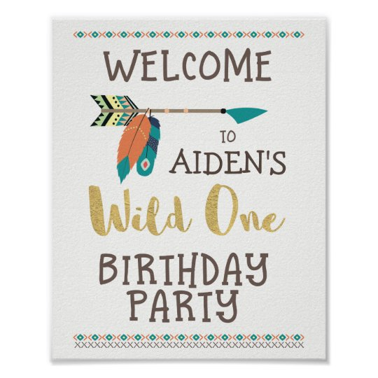 Personalised Wild One Welcome Party Poster