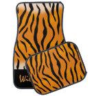 Personalised Wild Thing Tiger Stripes Car Mat