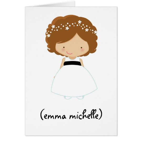 "Personalised ""Will You Be My Flower Girl?"" Card"
