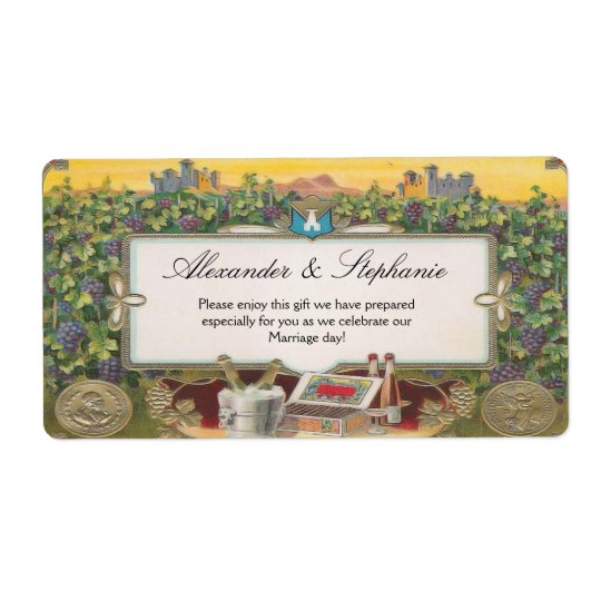 Personalised Wine Grapes Vineyard Labels