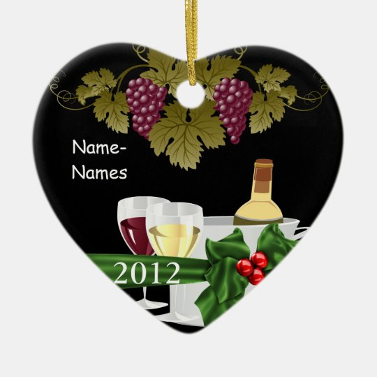Personalised WINE LOVERS 2012 Holiday ORNAMENT