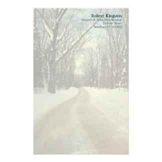 Personalised Winter Road Writing Paper Customised Stationery