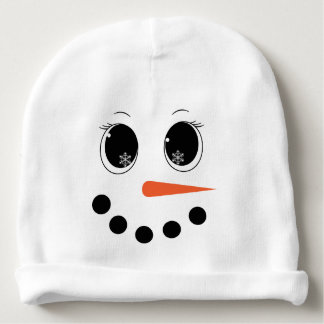 Personalised Winter Snowgirl Baby Hat Beanie Baby Beanie