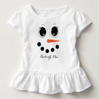 Personalised Winter Snowgirl Toddler Ruffle Shirt