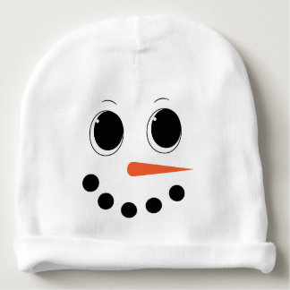 Personalised Winter Snowman Baby Hat - Cute Beanie Baby Beanie