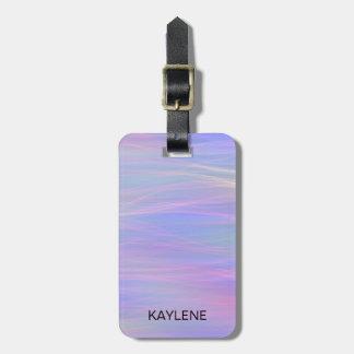 Personalised Wispy Rainbow Luggage Tag