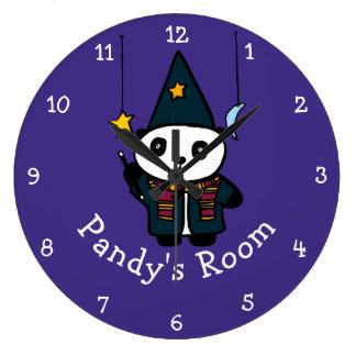 Personalised Wizard Pandy the Panda Large Clock