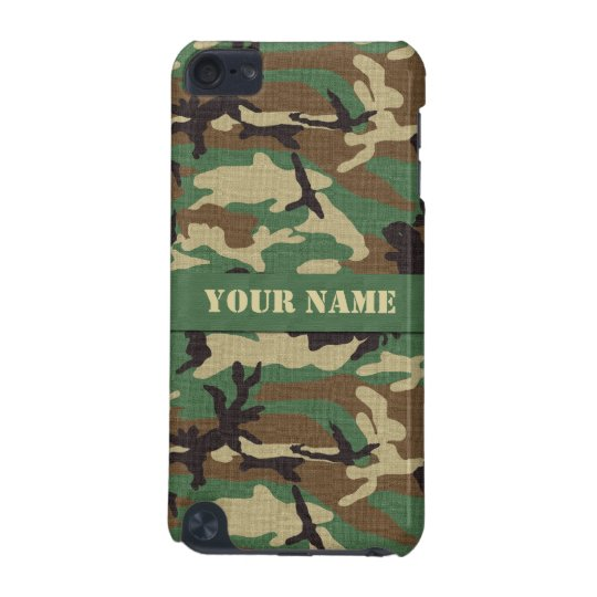 Personalised Woodland Camo iPod Touch 5G Case
