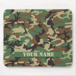 Personalised Woodland Camouflage Mousepad