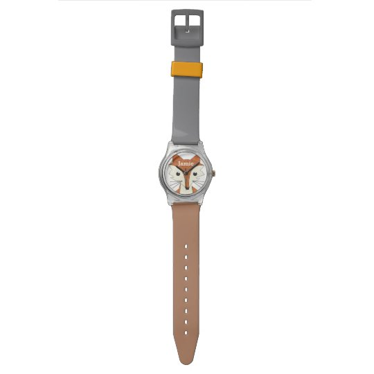 Personalised Woodland Creatures Fox Wrist Watches