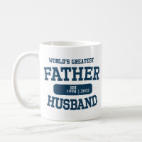 Personalised Word's Greatest Father Husband Mug