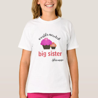 Personalised World's Sweetest Big Sister T-Shirt