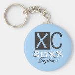 Personalised XC Keychain Cross Country Running
