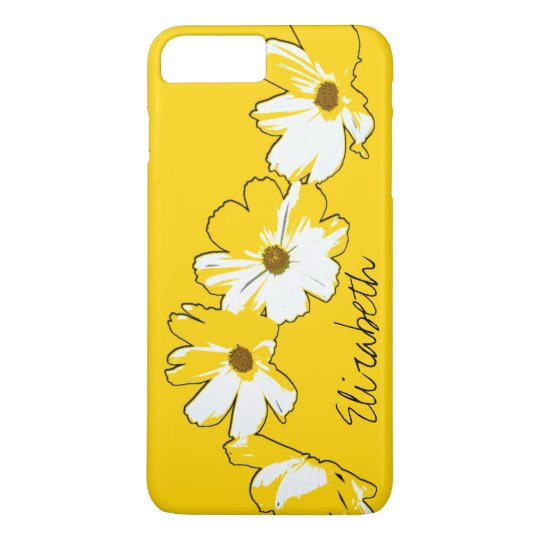 Personalised Yellow Daisy Chain iPhone 8 Plus/7 Plus Case
