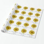 Personalised Yellow Sunflower Wedding Gift Wrap
