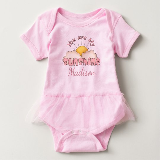 Personalised You Are My Sunshine Baby Bodysuit