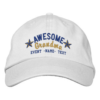 Personalised Your Name Awesome Mum Embroidery Embroidered Baseball Cap