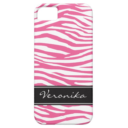 Personalised Zebra Pattern iPhone 5 Cases