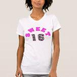 Personalised Zebra Print Sweet 16 Tshirt
