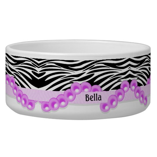 Personalised Zebra Stripes and Pink Pearls