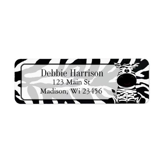 Personalised Zebra Stripes Return Address Labels