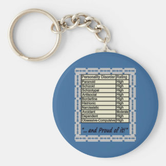 Personality Disorder 3 Basic Round Button Key Ring