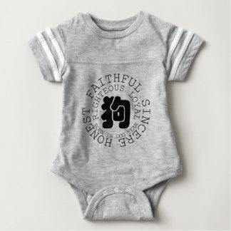 Personality Dog Zodiac Baby Born in Dog Year 2018 Baby Bodysuit