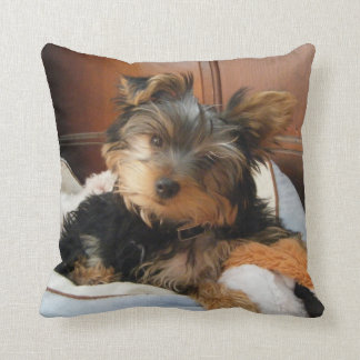 Personality Plus Yorkie Cushion