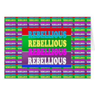 PERSONALITY REBEL REBELLION Express lowprice Cards
