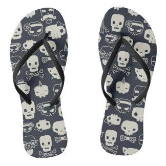 Personality Skull Pattern Flip Flop