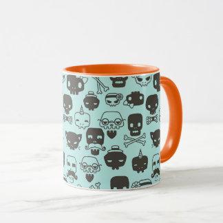 Personality Skull Pattern Mug - Mint