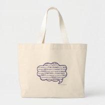 Personality Tag Cloud Large Tote Bag