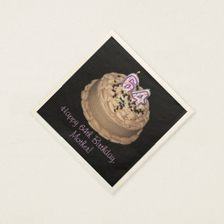 Personalizable 64th Birthday Party Napkins Paper Napkins
