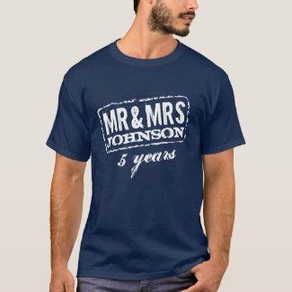 Personalizable anniversary t-shirt