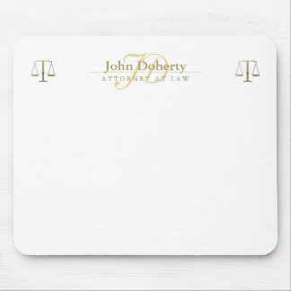 Personalizable ATTORNEY AT LAW | Gold Mouse Mat