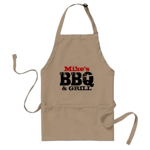 Personalizable BBQ apron for men