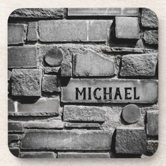 Personalizable Brick Wall Cool Arrangement Coaster
