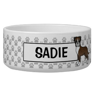 Personalizable Brindle Boxer Dog And Name