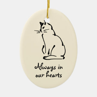 Personalizable Cat Memorial Ornament