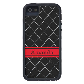 Personalizable Chain Link Fence Pattern iPhone 5 Covers
