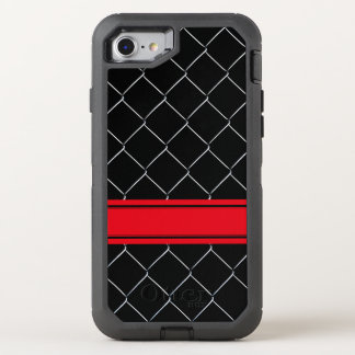 Personalizable Chain Link Fence Pattern OtterBox Defender iPhone 7 Case