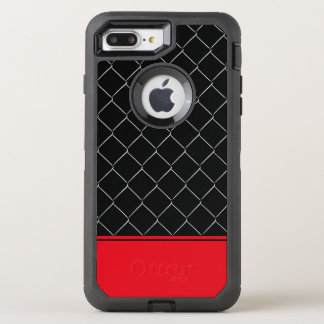 Personalizable Chain Link Fence Pattern OtterBox Defender iPhone 7 Plus Case