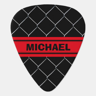 Personalizable Chain Link Pattern Cool Fun Guitar Pick