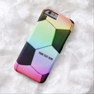 Personalizable colorful Soccer   Football Barely There iPhone 6 Case
