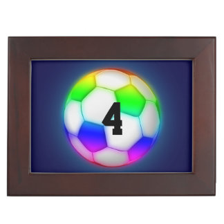Personalizable Colorful Soccer | Football Keepsake Box