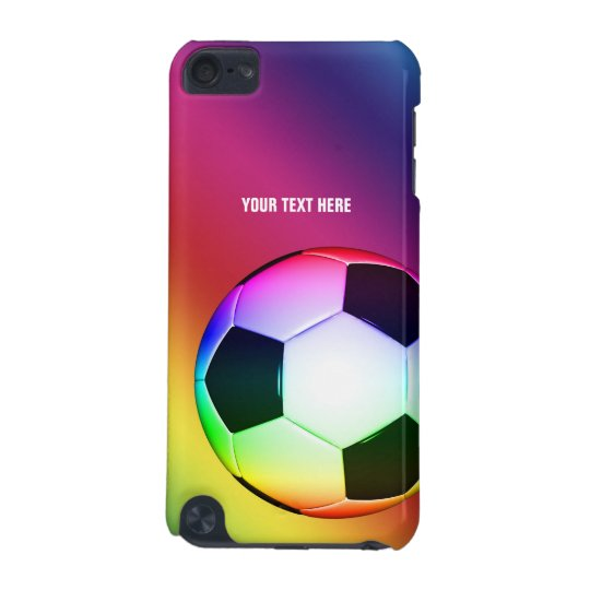 Personalizable Colourful Soccer | Fun Gifts iPod Touch