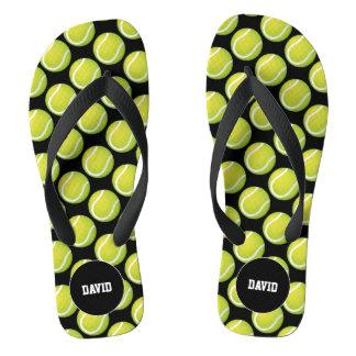 Personalizable | Cool Tennis Pattern Sport Gift Flip Flops