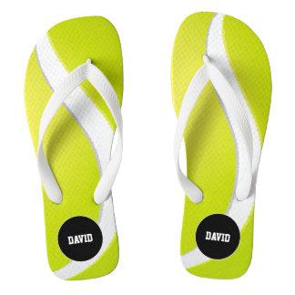 Personalizable Cool Tennis Sport Gift Flip Flops