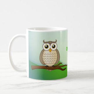 Personalizable Cute Wise Owl   Mug