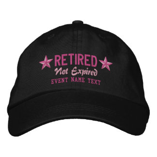 Personalizable Edit Text Happy Retired Embroidery Embroidered Baseball Cap
